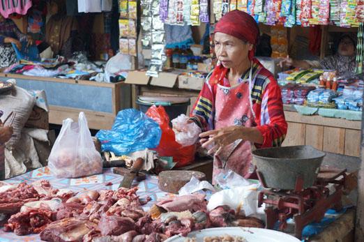 Lombok_Marktfrau Fleisch_K
