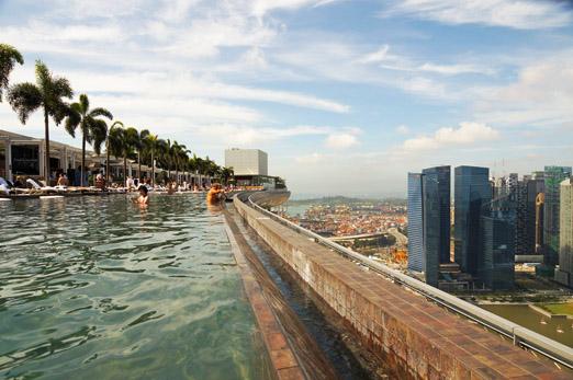 Marina Bay Sands_tagsüber Sonne-Pool